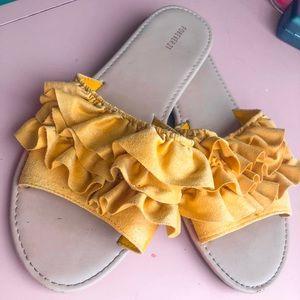 Free People Style Yellow Ruffle sandal